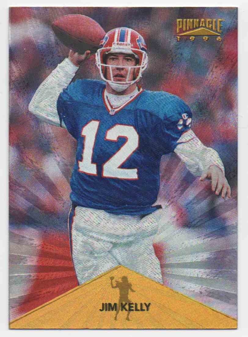 1996 Pinnacle Trophy Collection Jim Kelly #60 card front image