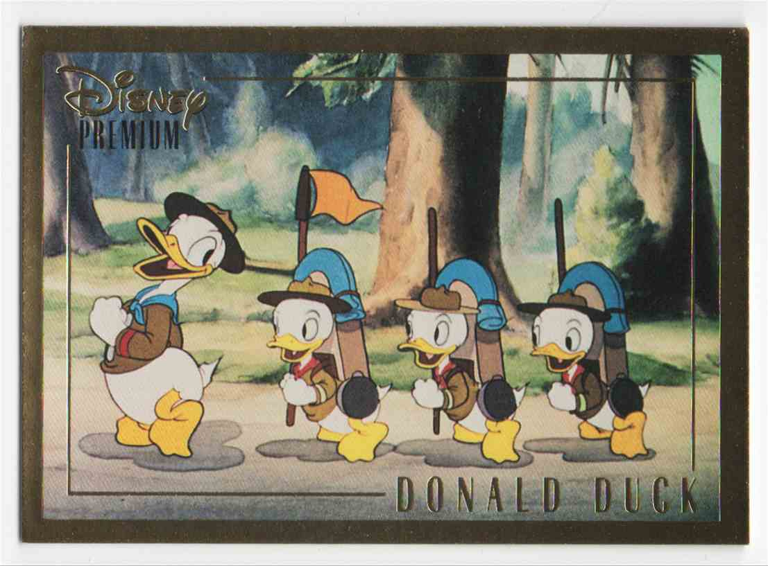 1995 Skybox Disney Premium Donald Duck #18 card front image