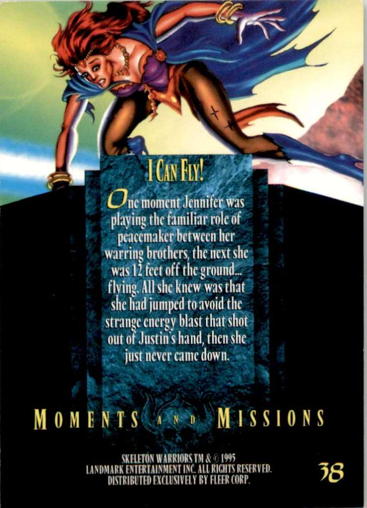 1995 Skeleton Warriors Ultra I Can Fly #38 card back image