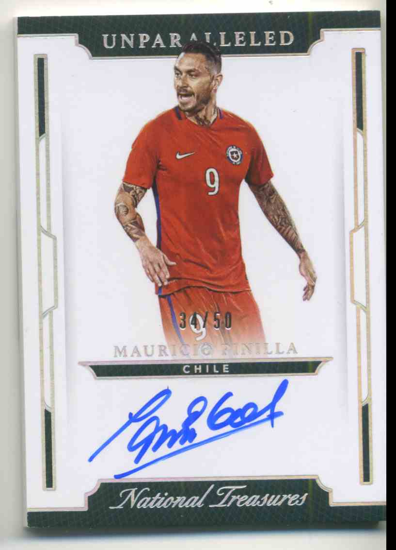 2018 Panini National Treasures Unparalleled Autographs Redemption Mauricio Pinilla #U-MPI card front image