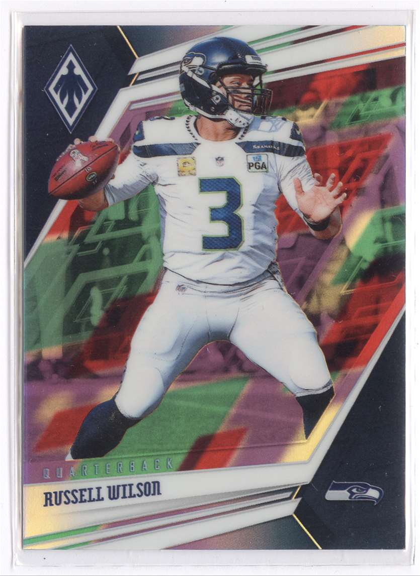 2019 Panini Phoenix Color Burst Russell Wilson #95 card front image