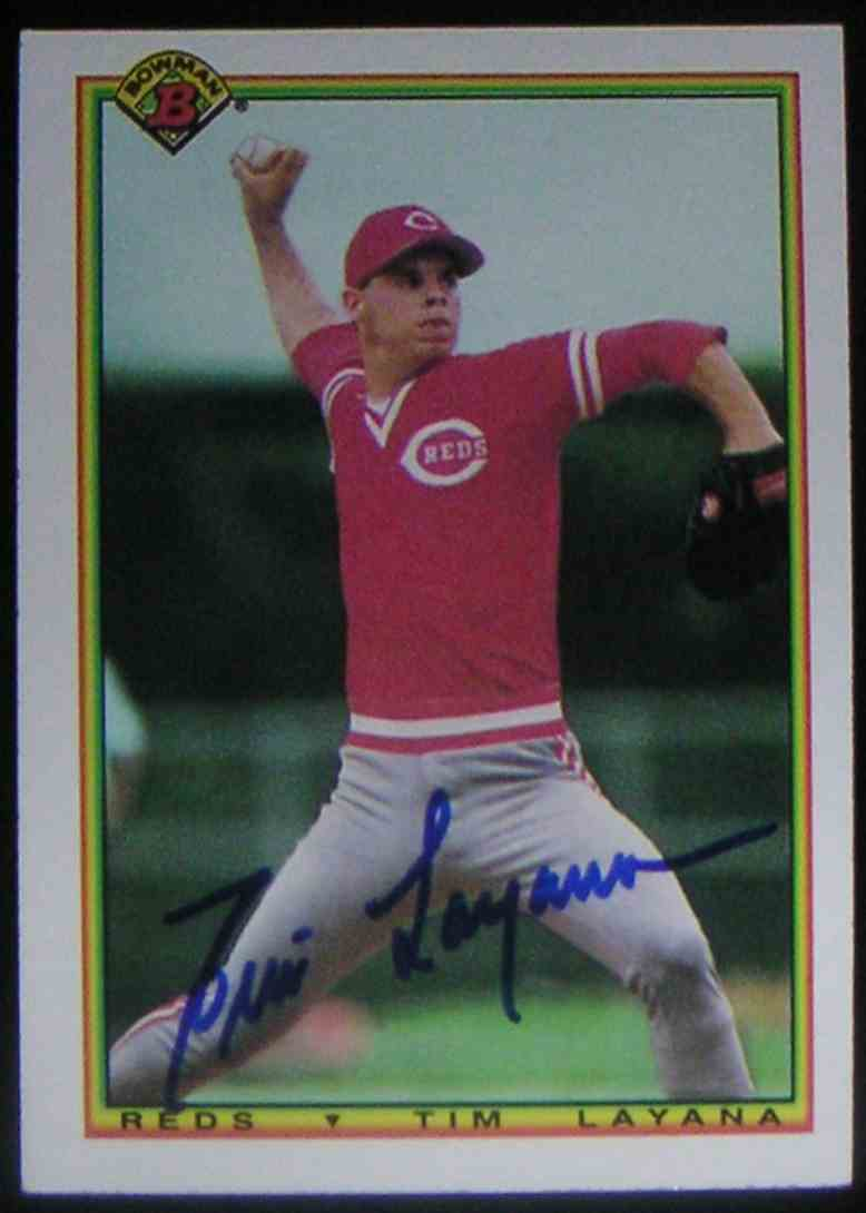 1990 Bowman Tim Layana #41 card front image