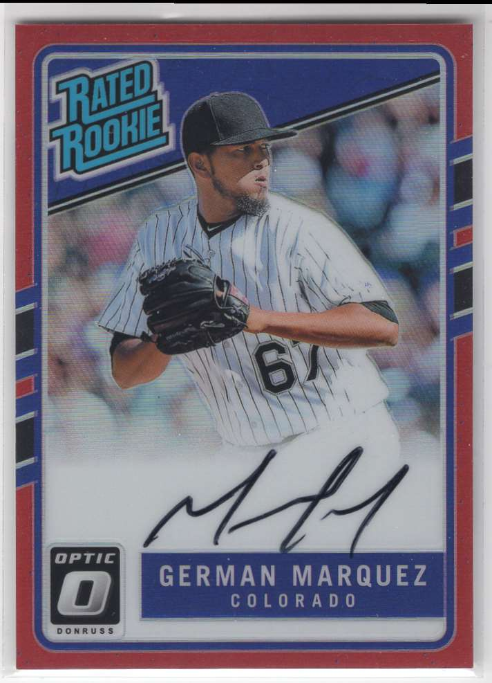 2017 Panini Donruss Optic Rated Rookie German Marquez #172 card front image