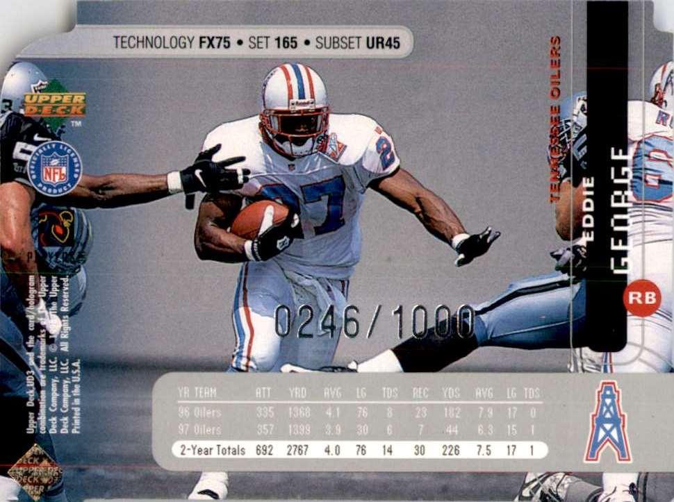 1998 Ud3 Die Cuts Eddie George Uf #165 card back image