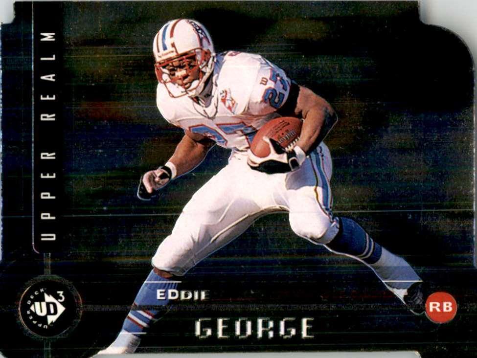1998 Ud3 Die Cuts Eddie George Uf #165 card front image