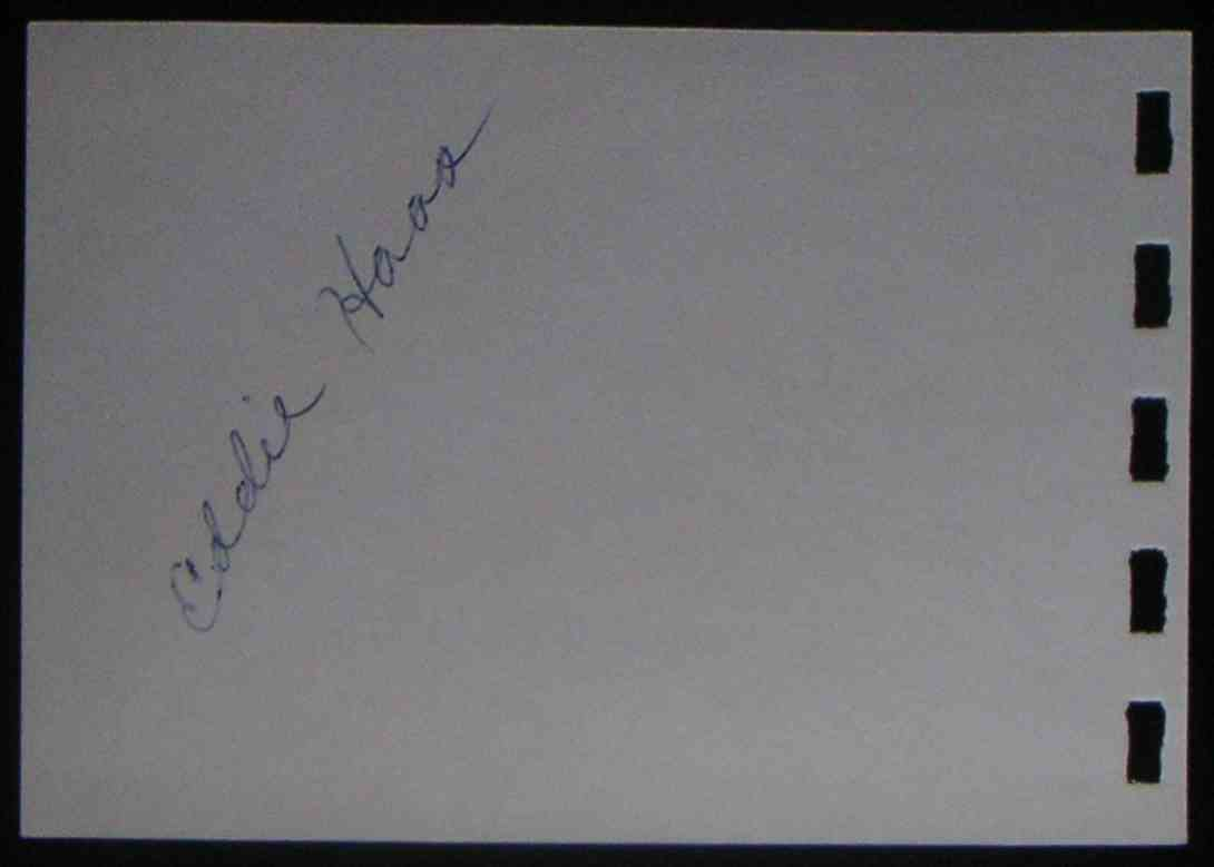 1959 Small Album Pg Eddie Haas card front image