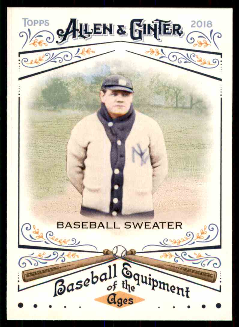 2018 Topps Allen & Ginter Equipment Of The Ages Baseball Sweater #BEA-29 card front image