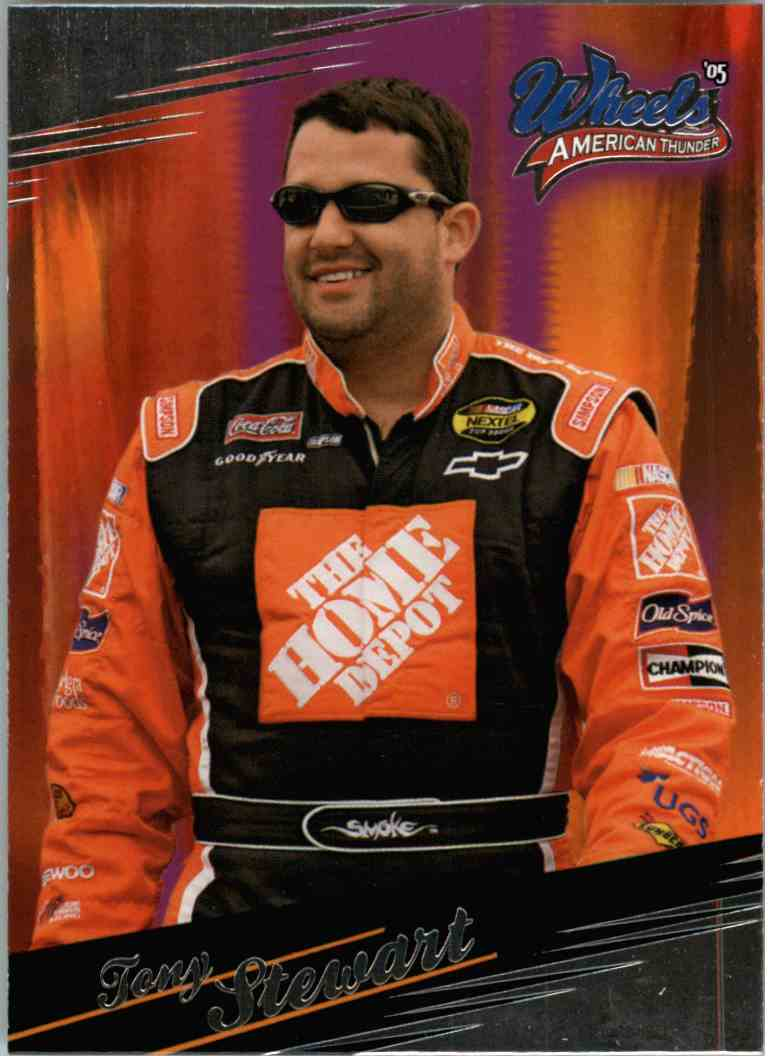 2005 Wheels American Thunder Tony Stewart #27 card front image