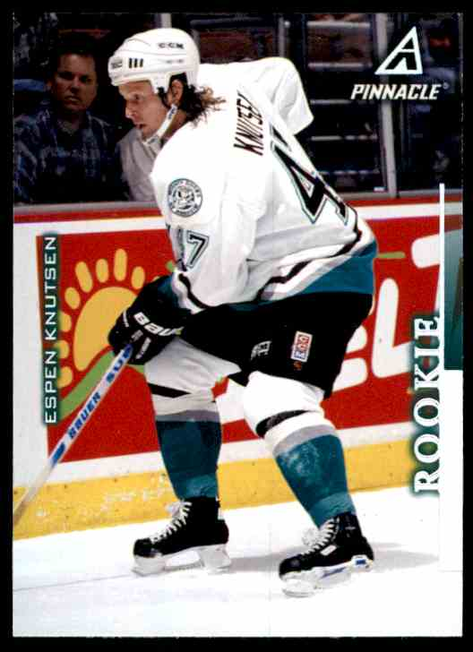 1997-98 Pinnacle Espen Knutsen RC #1 card front image