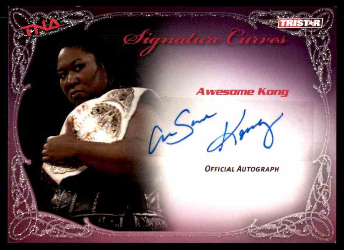 2009 Tristar Tna Knockouts Signature Curves Awesome Kong #KA2 card front image