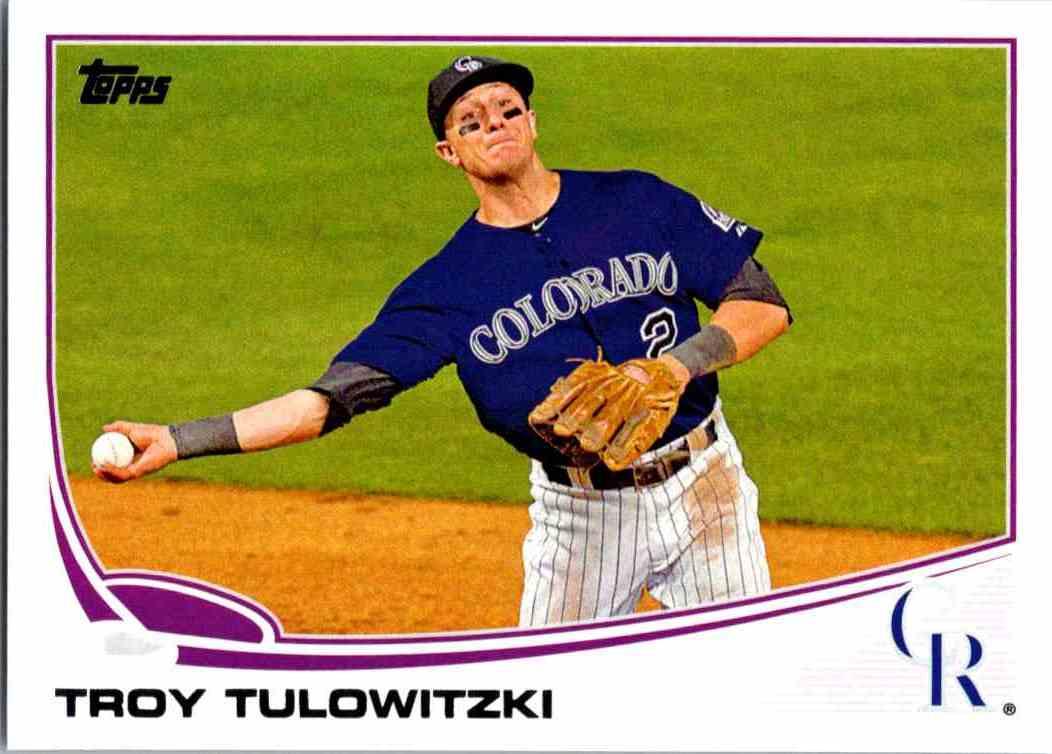 2013 Topps Troy Tulowitzki 453 On Kronozio