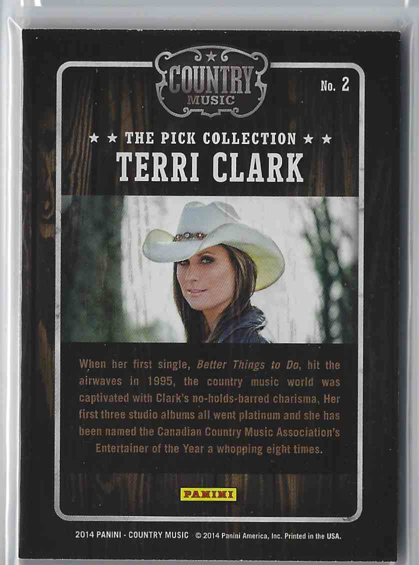 2015 Country Music Pick Collection Terri Clark #2 card back image