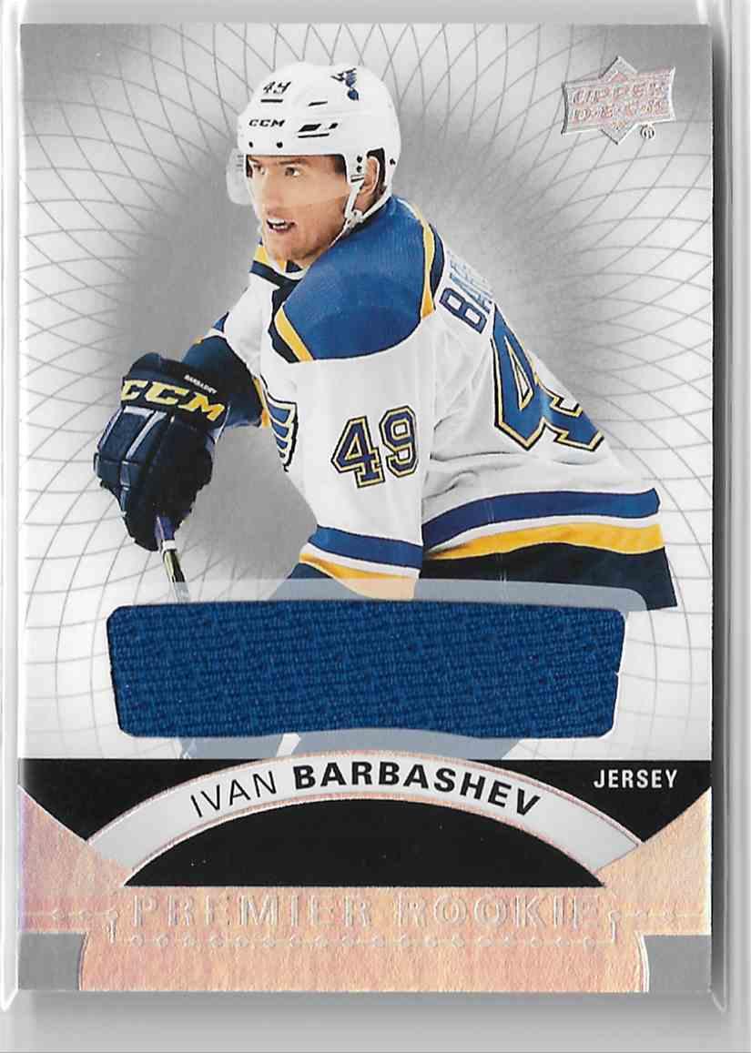 2017-18 Upper Deck Premier Jersey Ivan Barbashev #66 card front image