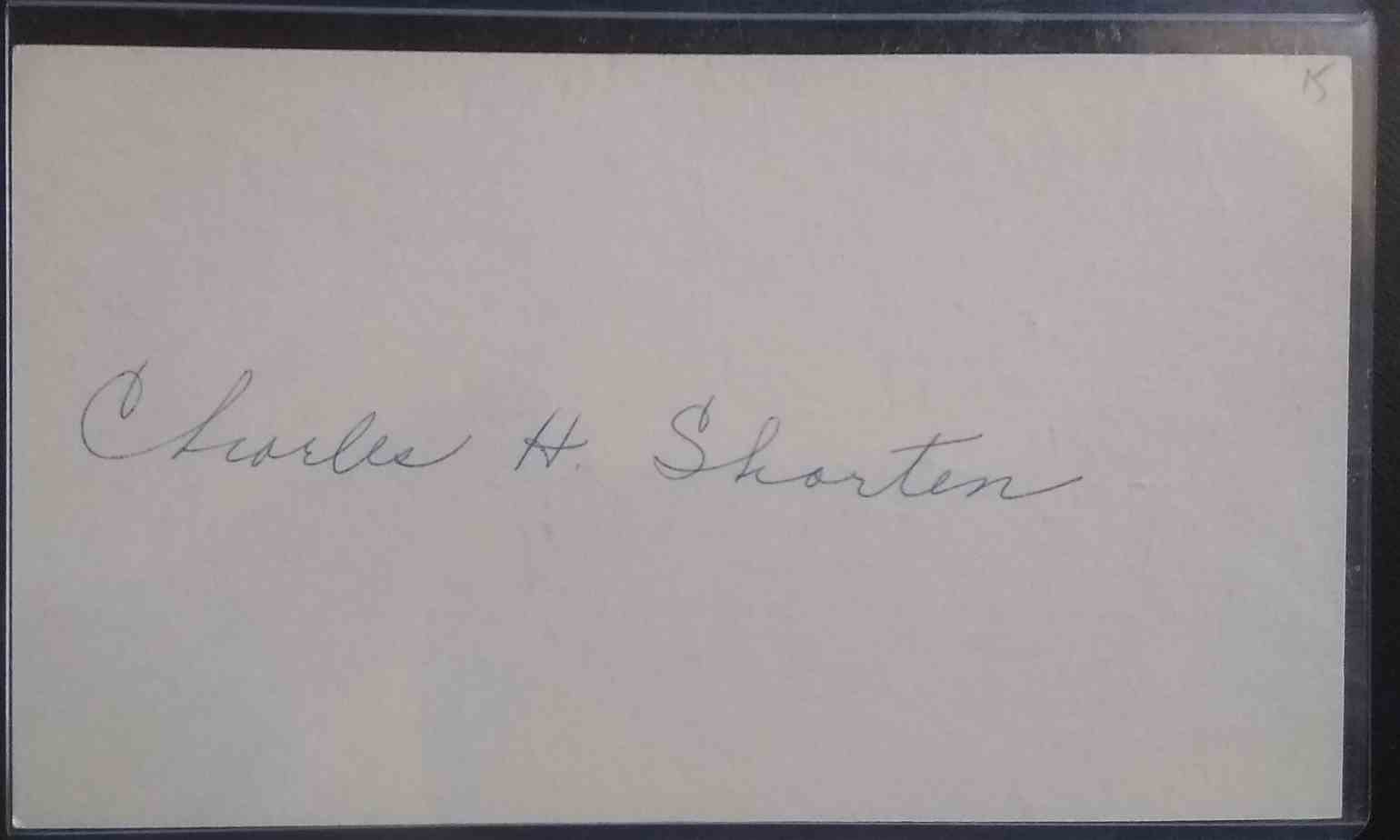 1915 3X5 Chick Shorten card front image