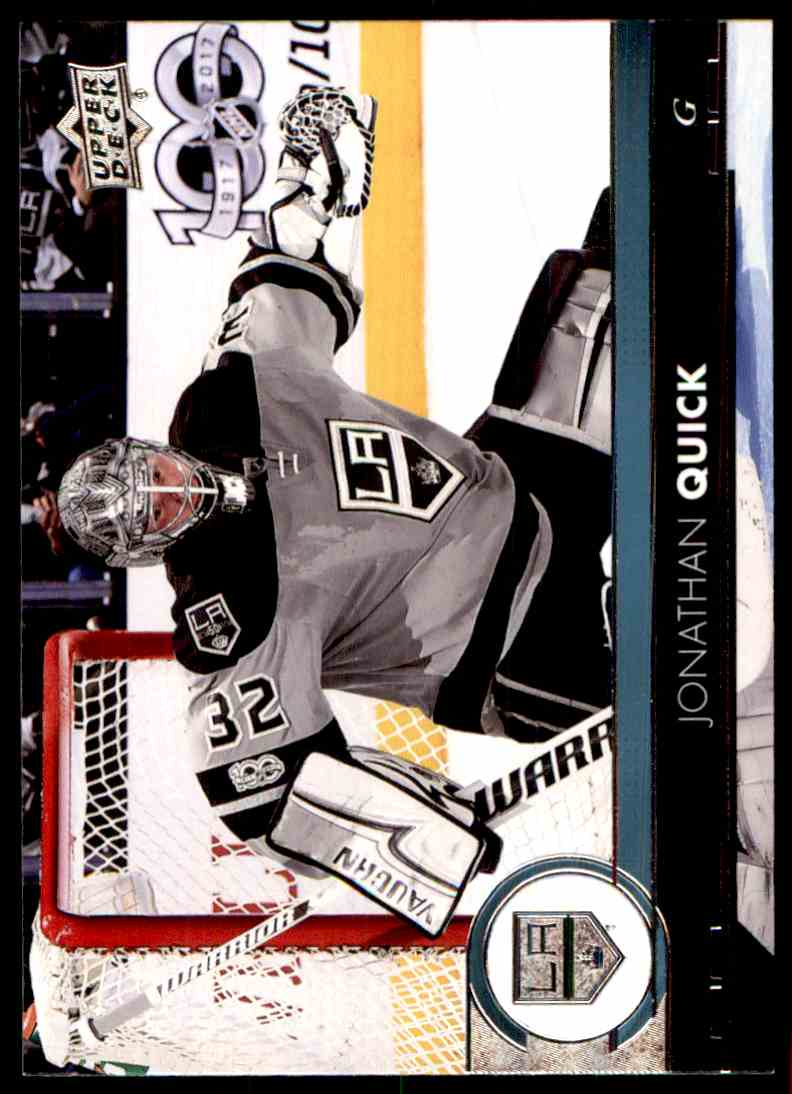 2017-18 Upper Deck Jonathan Quick #90 card front image