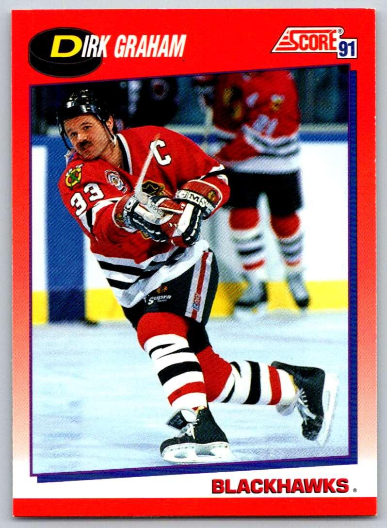 1991-92 Score Canadian Bilingual Dirk Graham #15 card front image