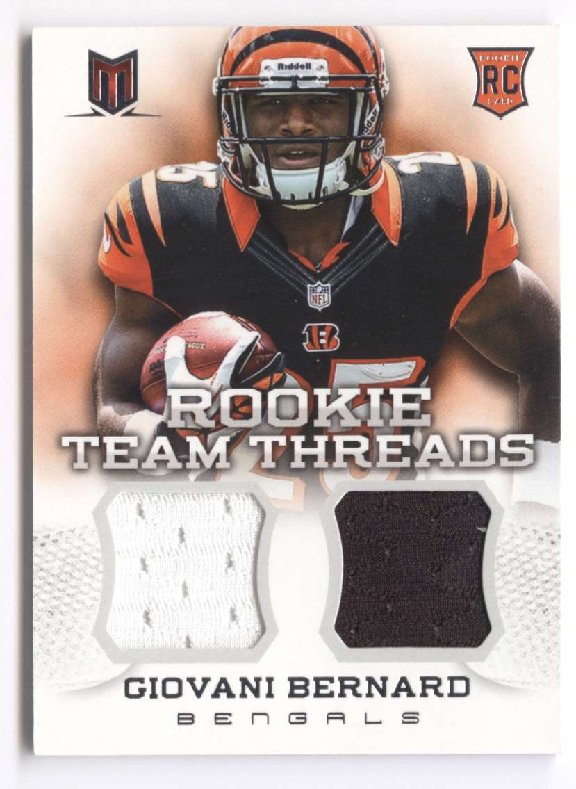 2013 Panini Momentum Rookie Team Threads Combo Materials Giovani Bernard #6 card front image