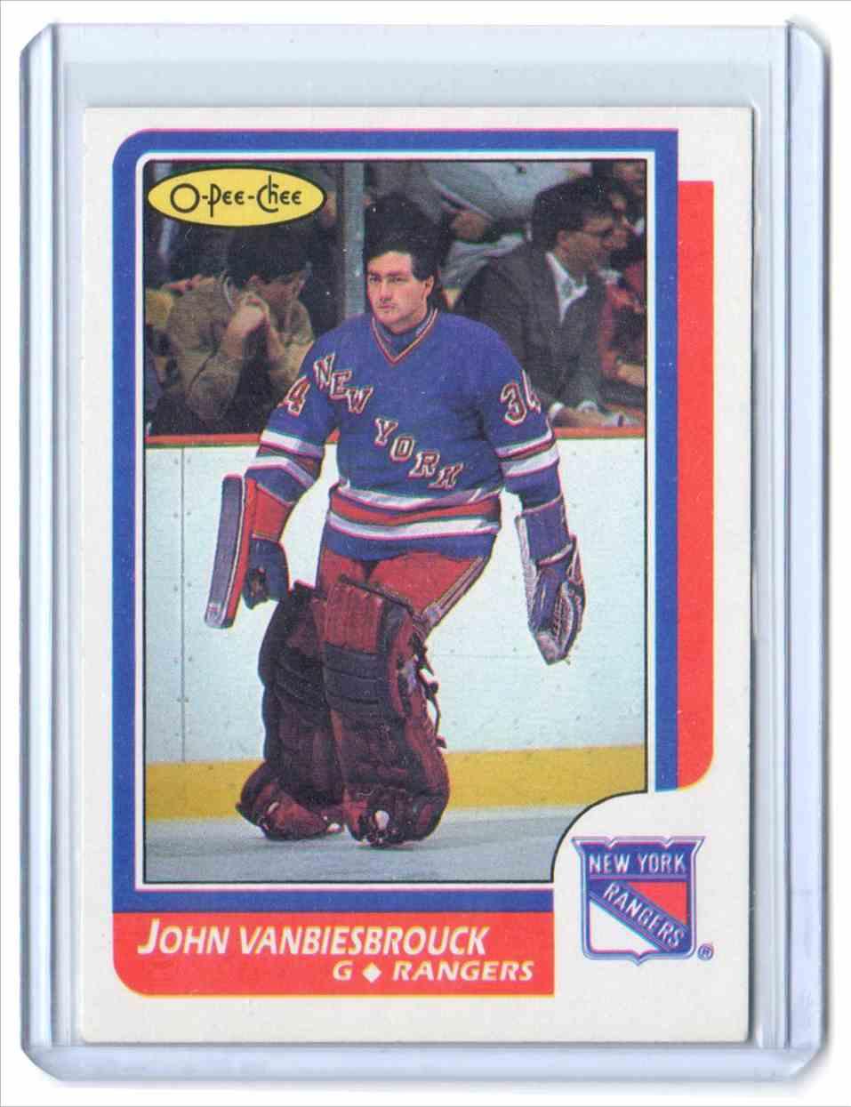 1986-87 O-Pee-Chee John Vanbiesbrouck #9 card front image