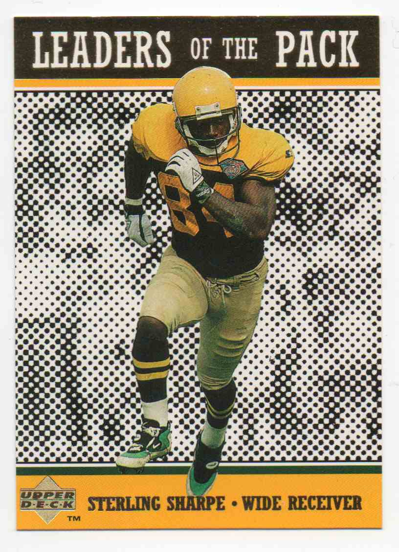 1996 Upper Deck Green Bay Packers Sterling Sharpe #76 card front image