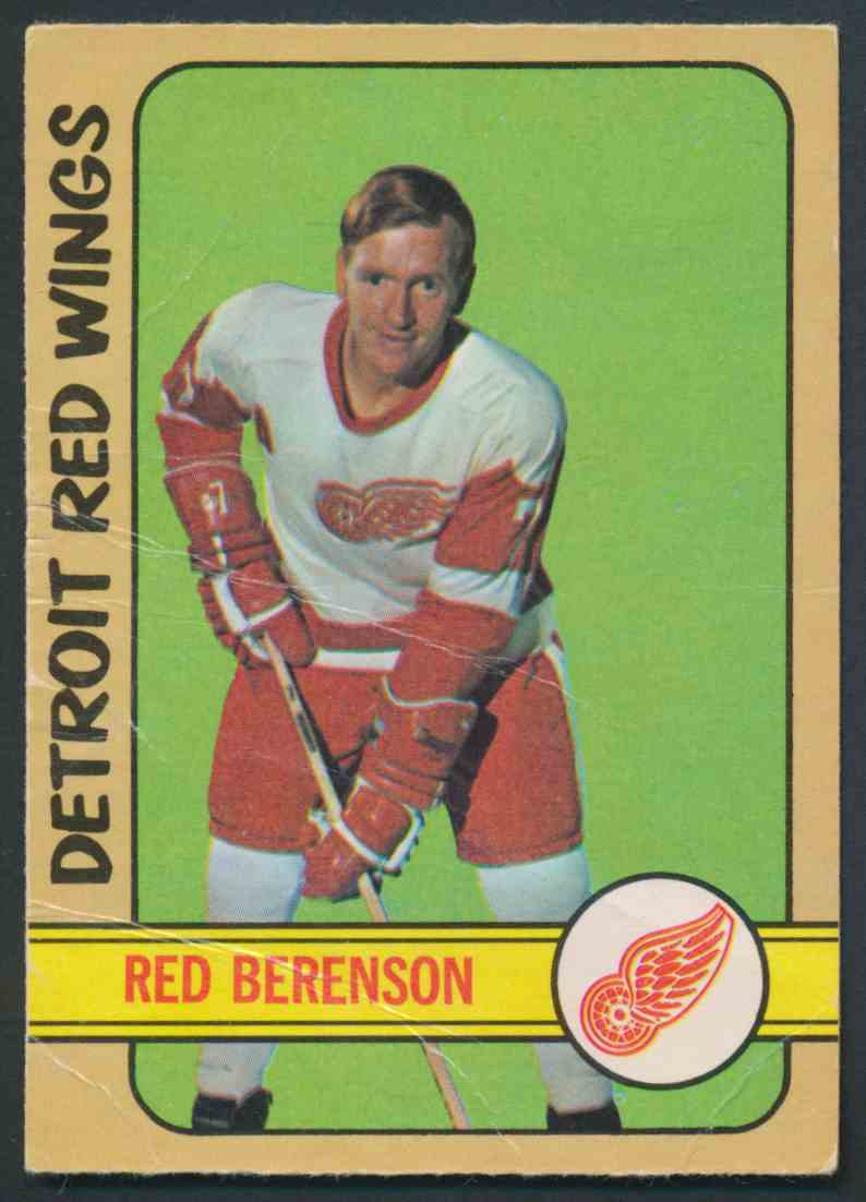 1972-73 O-Pee-Chee Red Berenson #123 card front image