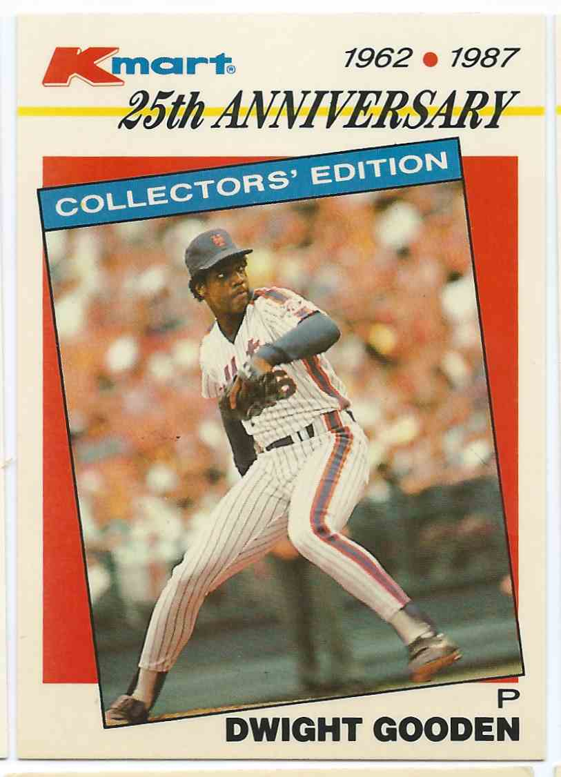 1987 Topps Kmart 25th Anniversary Dwight Gooden 26 On