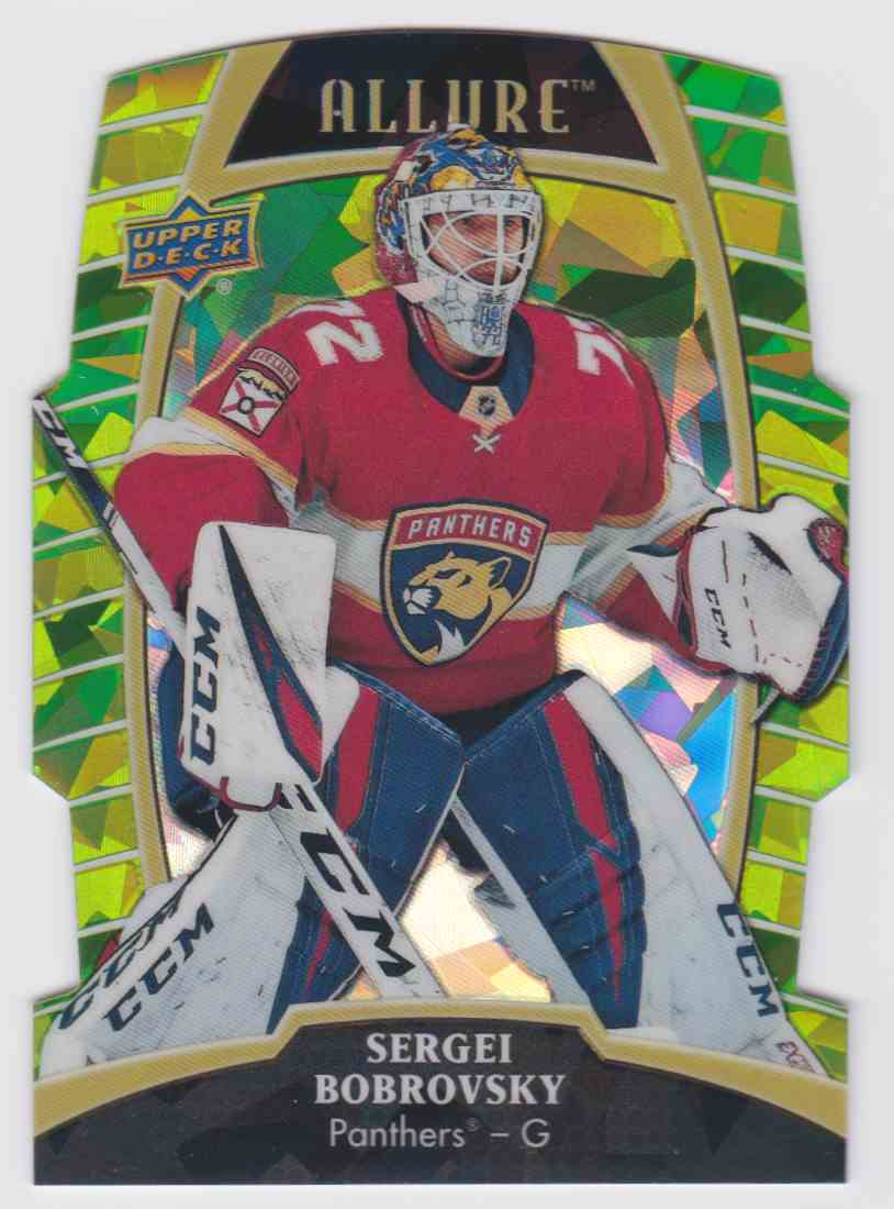 2019-20 Upper Deck Hockey Allure Sergei Bobrovsky - Green Quartz #3 card front image