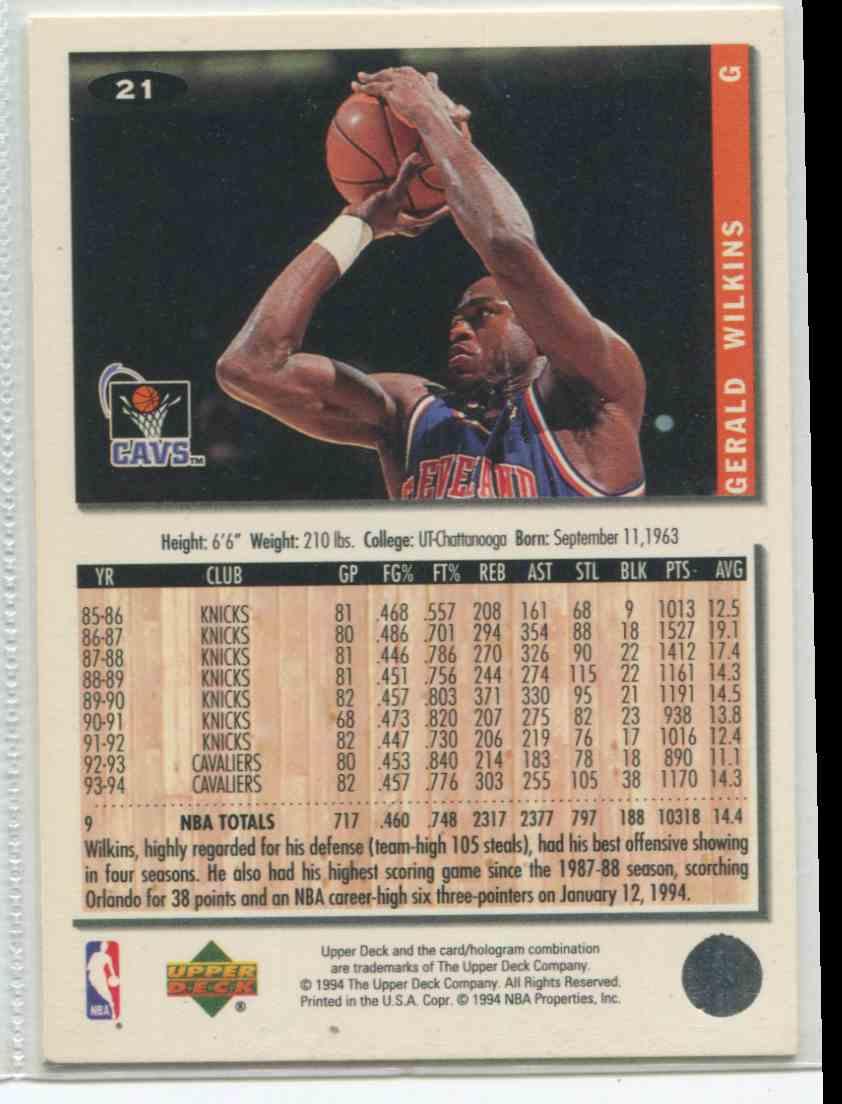 1994 95 Collector s Choice Gerald Wilkins 21 on Kronozio