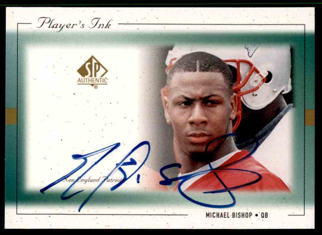 1999 SP Player's Ink Michael Bishop #MB-A card front image