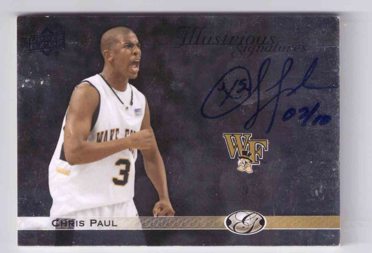 2011-12 Upper Deck All Time Greats Illustrious Signatures Chris Paul #IS-CP2 card front image