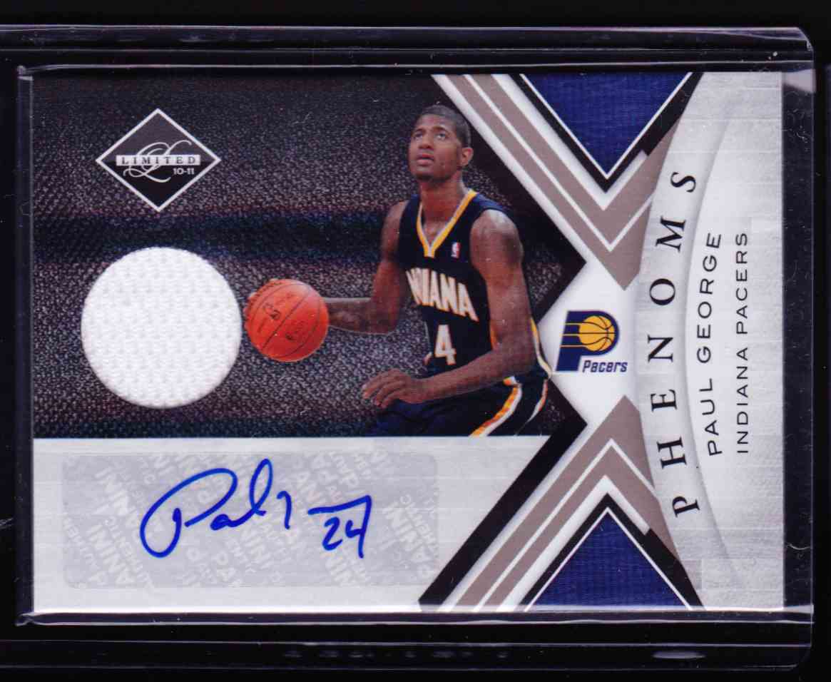 2010-11 Panini Limited Paul George card front image