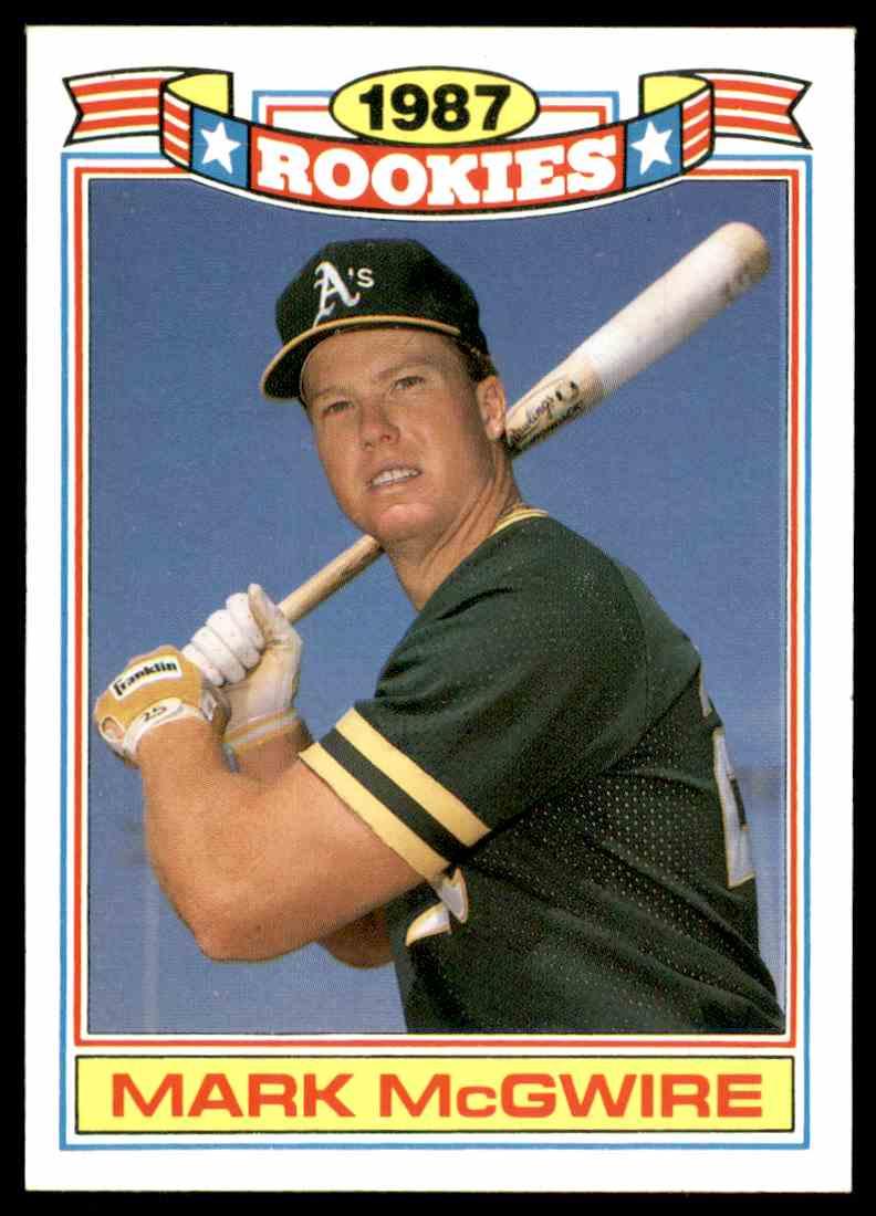 1988 Topps 1987 Rookies Mark Mcgwire 13 On Kronozio
