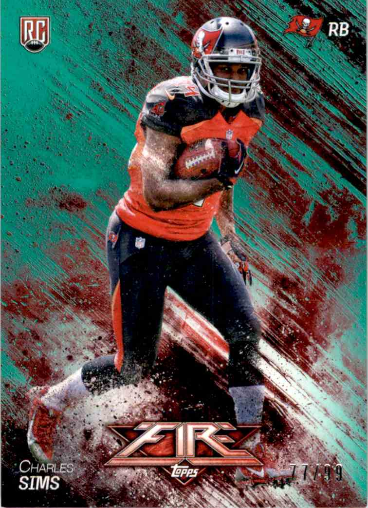 2014 Topps Fire Green Charles Sims #136 card front image