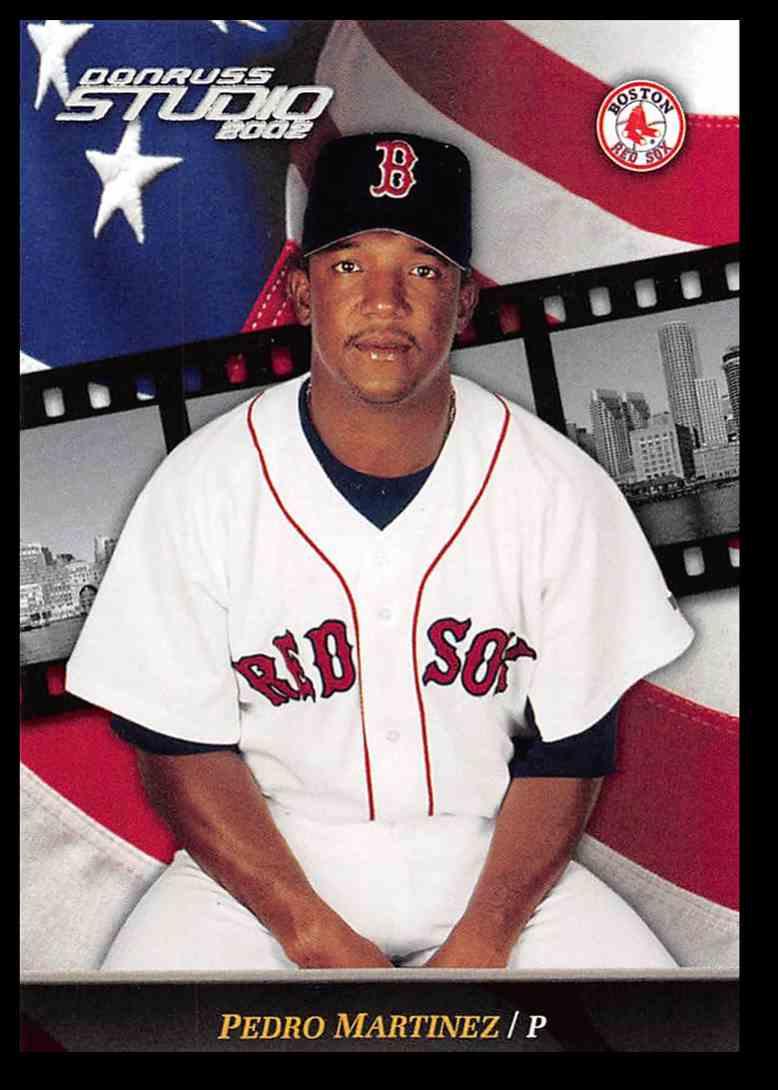 2002 Donruss Studio Pedro Martinez Baseball Card 46 On