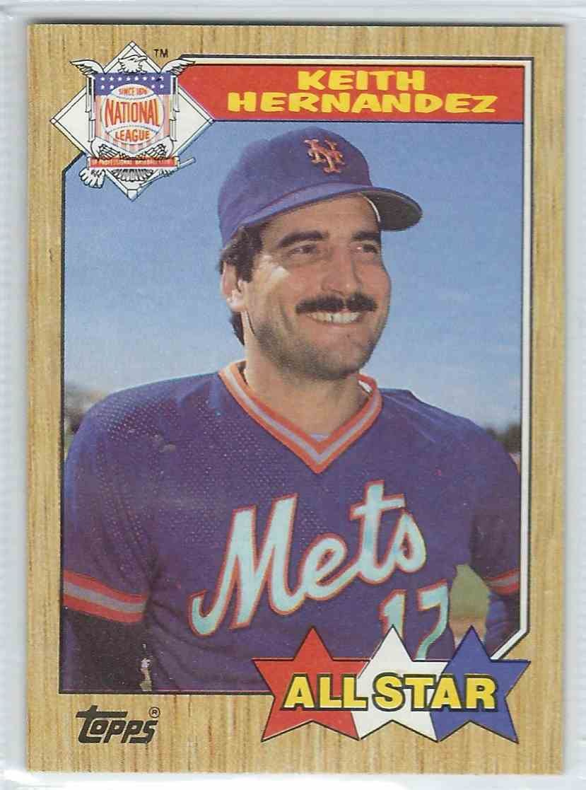 1987 Topps Keith Hernandez #595 card front image