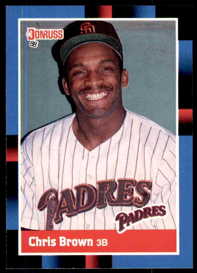 1988 Donruss Baseball Chris Brown 483 On Kronozio