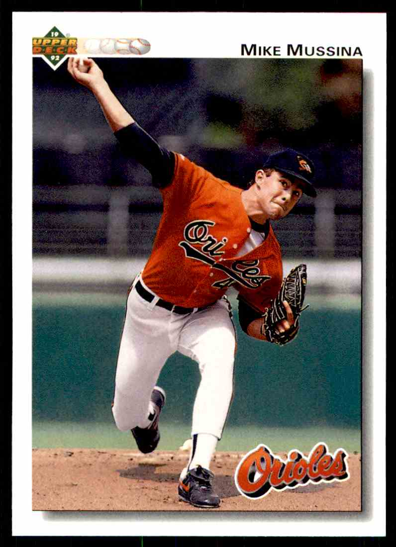 1992 Upper Deck Mike Mussina 675 Card Front Image