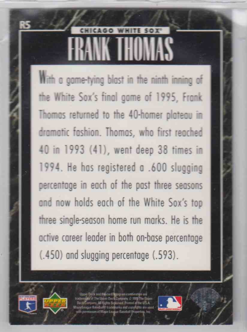 1995 Upper Deck Predictor League Leaders Exchange Frank Thomas #R5