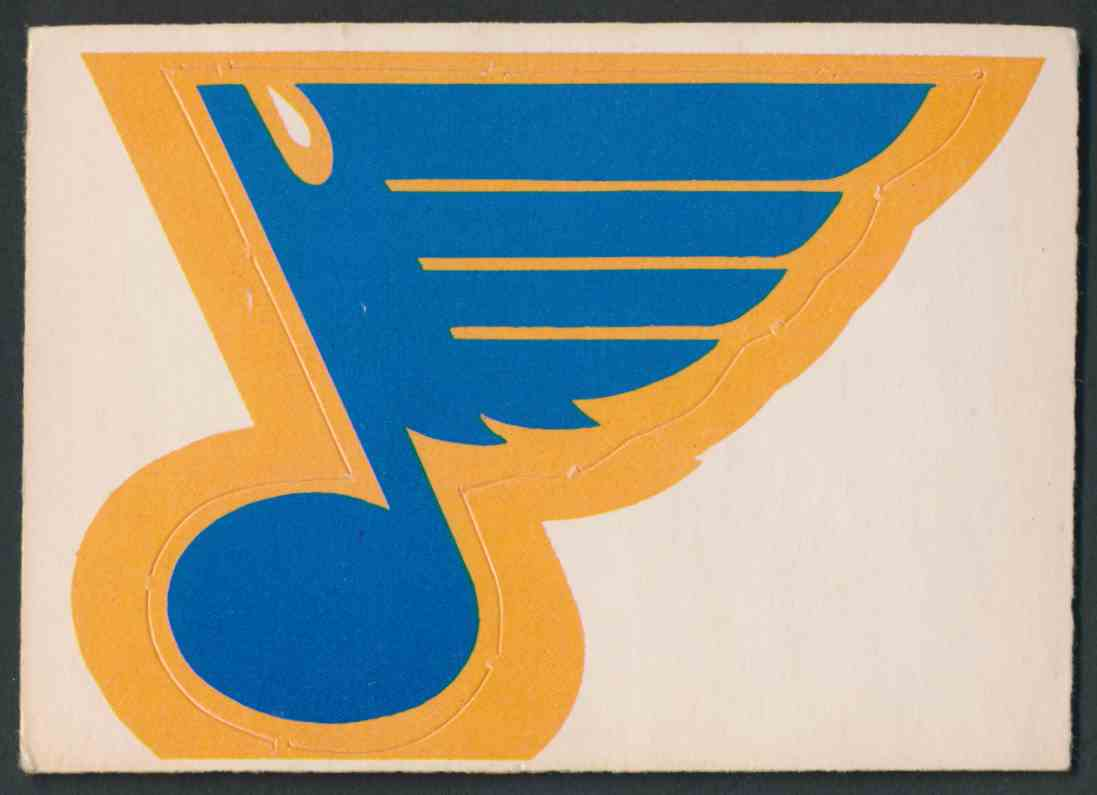 1972-73 O-Pee-Chee St Louis Blues Logo card front image