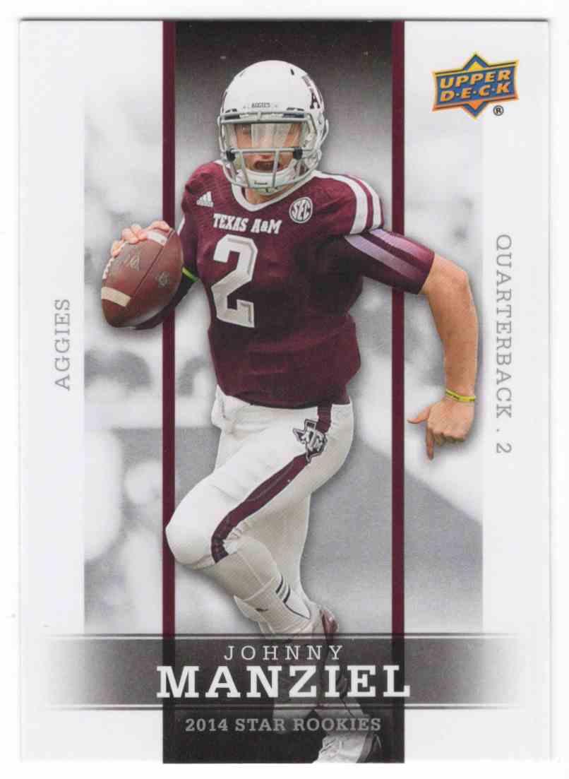 2014 Upper Deck Star Rookies Johnny Manziel #1 card front image