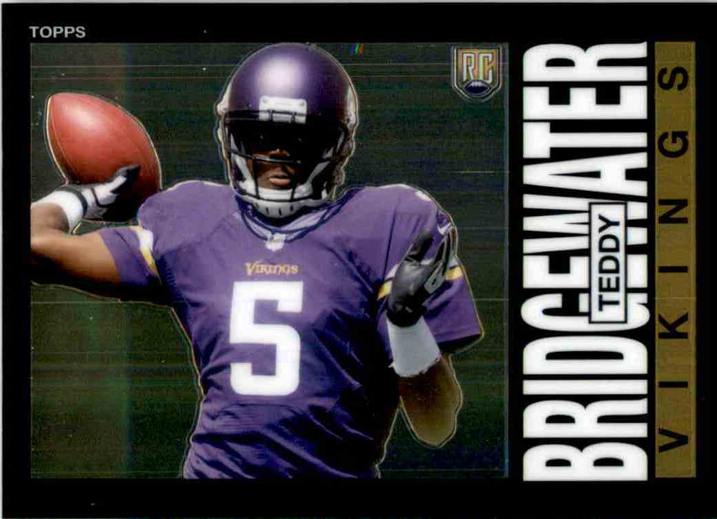 2014 Topps Chrome 1985 Teddy Bridgewater #6 card front image