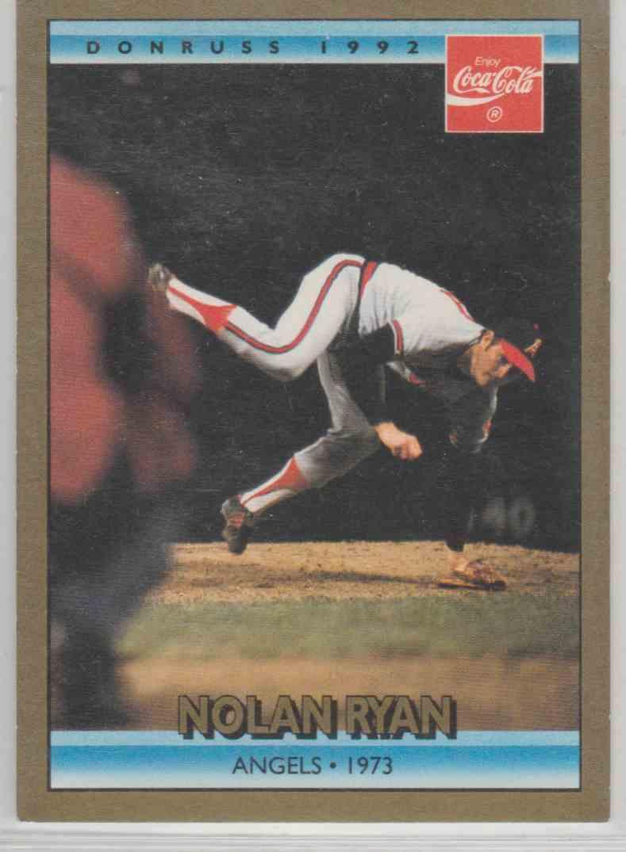 1992 Donruss Coca Cola Nolan Ryan 7 On Kronozio