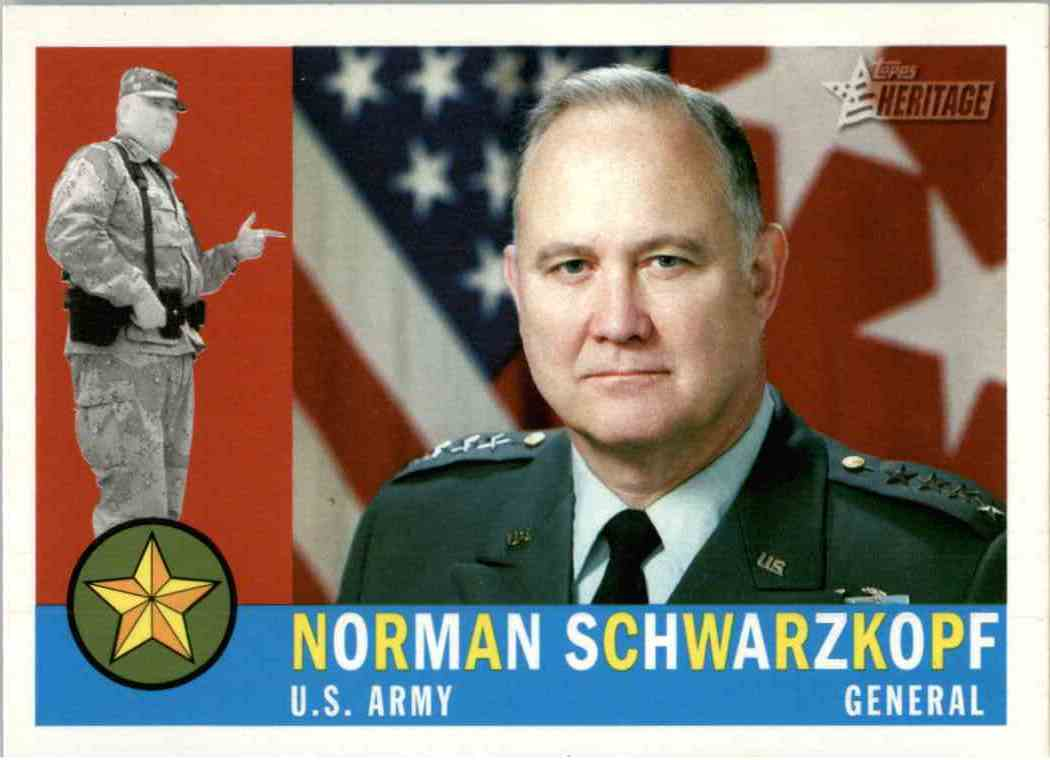 2009 Topps Heritage Norman Schwarzkopf #4 card front image