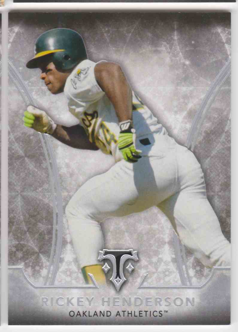 2015 Topps Triple Threads Rickey Henderson #74 card front image