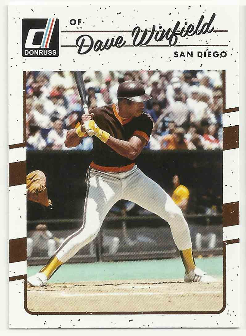 2017 Donruss Dave Winfield #178-A card front image