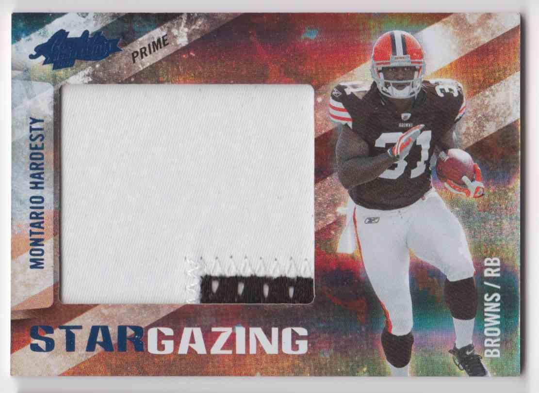 2010 Absolute Memorabilia Star Gazing Montario Hardesty #14 card front image