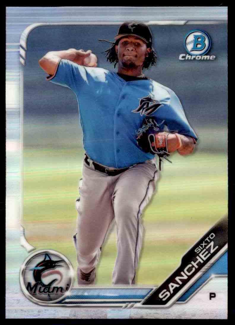 2019 Bowman Draft Chrome#BDC-89 Sixto Sanchez Miami Marlins Baseball Card