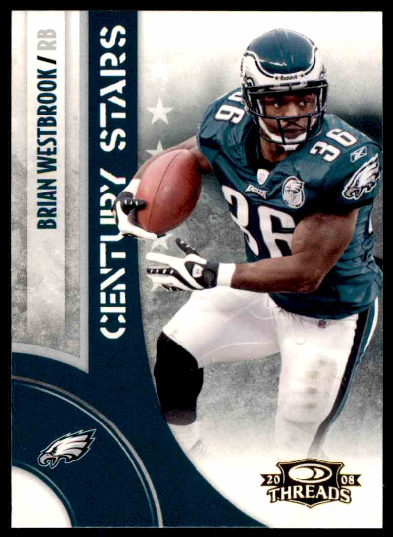 2008 Donruss Threads Century Stars Brian Westbrook #CS-9 card front image