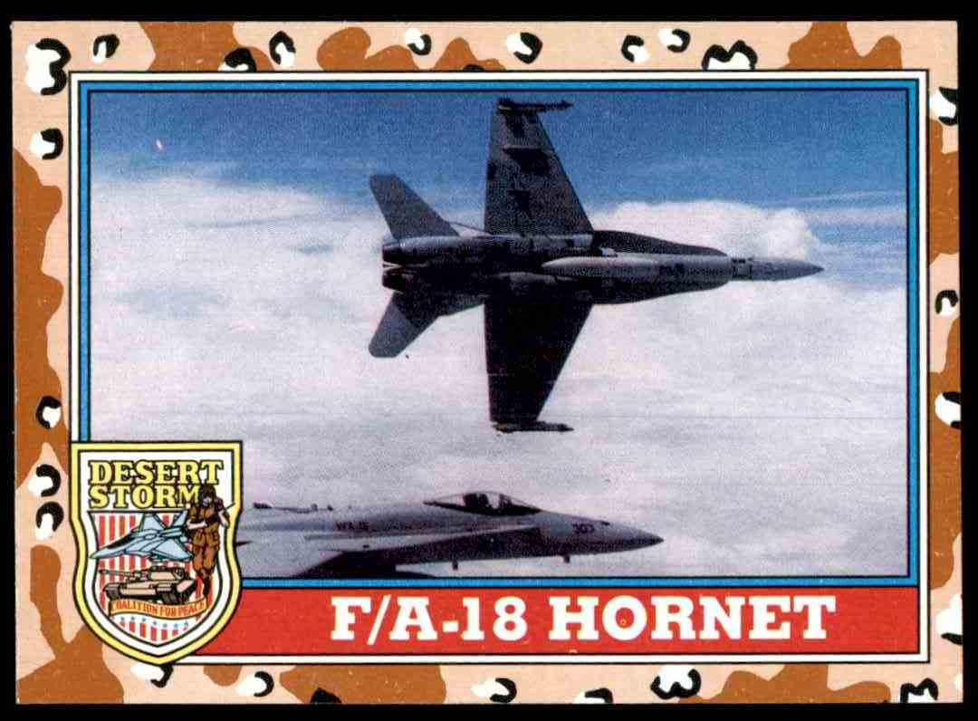 1991 Desert Storm Topps F/A-18 Hornet #116 card front image