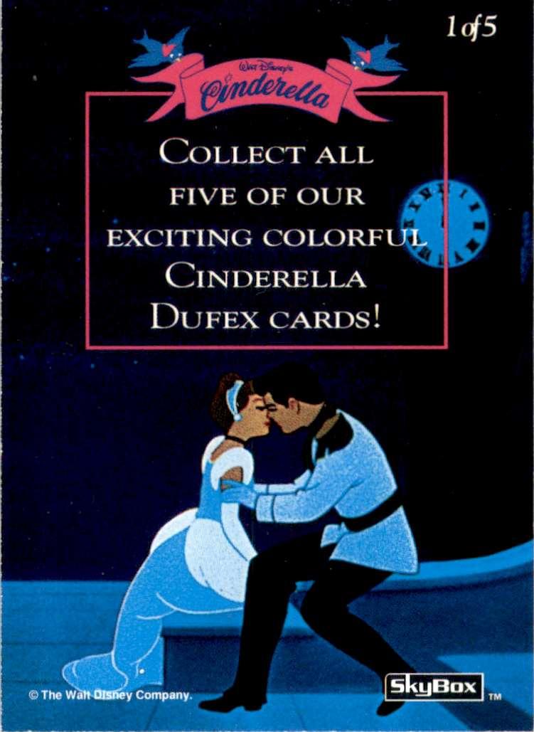 1995 Skybox Walt Disney Cinderella Cinderella #1 card back image