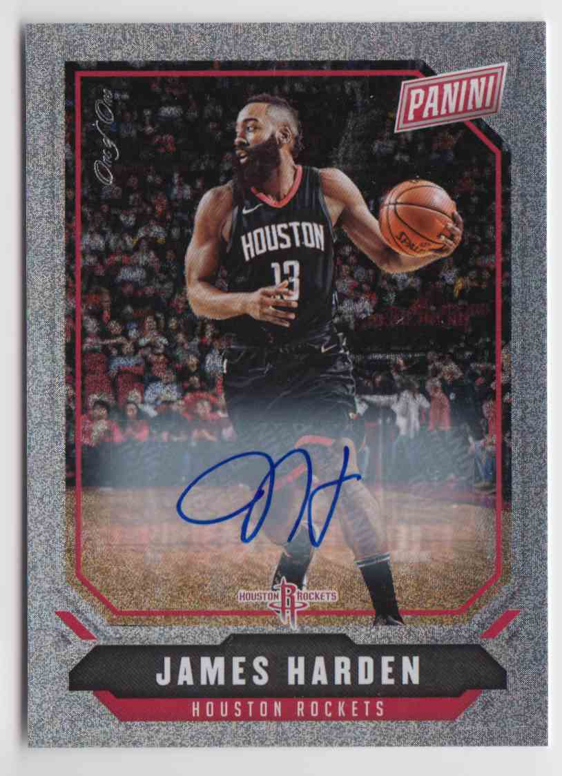 size 40 a8836 5866d 2018-19 Panini National Silver Sparkle James Harden #33 on ...